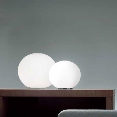 0707219013602 Leucos Idea лампа настольная Shera T3/29, белый матовый плафон, D29/15см, H25см, 1