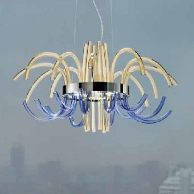 Светильник потолочный 0709380014849 Leucos Modo FILUX L LED CROMO AMBRA/BLUINO