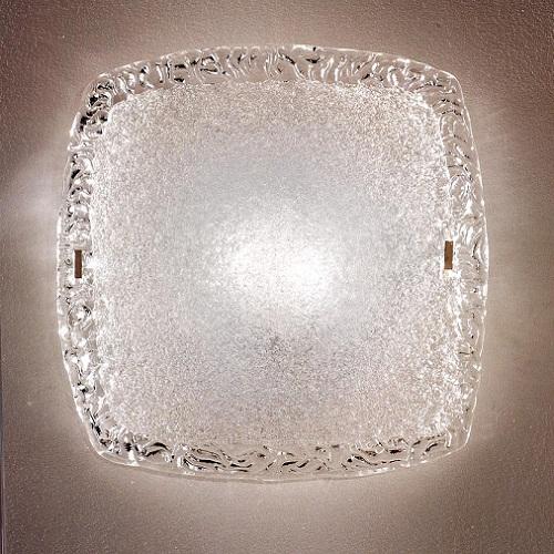 """4481 LineaLight """"Classiccollection"""" светильник потолочный, прозрач художественное стекло, 38x38х"""