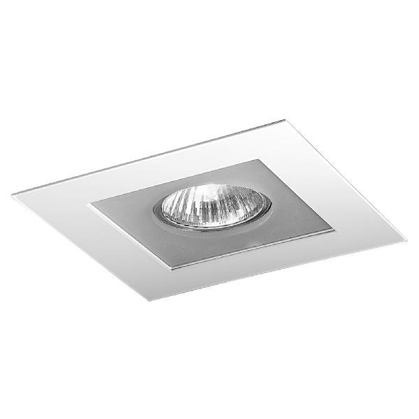 "4720 LineaLight ""Moderncollection"" светильник встроенный, белое стекло, 9х9 см, 1хGY6,35 50W, бе"