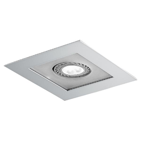 """4722 LineaLight """"Moderncollection"""" светильник встроенный, белое стекло, 9х9 см, 1хGY6,35 50W, по"""