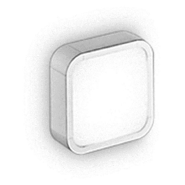 6947 Linea Light светильник настенно-потолочный Al-Book, стекло белого цвета, 12X12X5,2 см, 1X6W