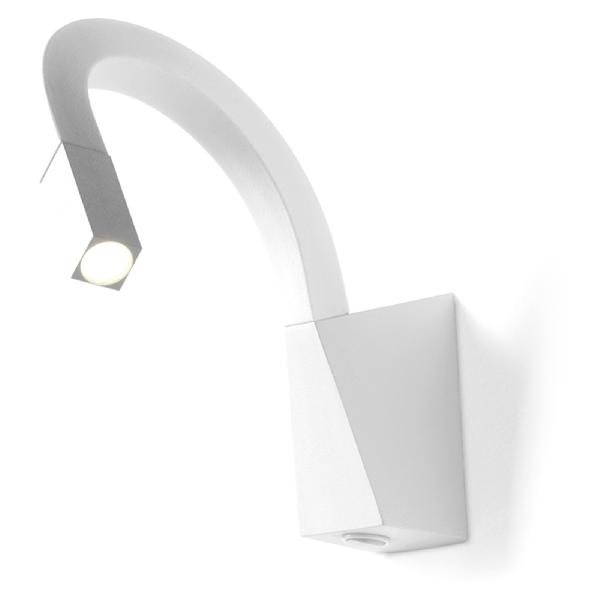 7226 Linea Light бра Snake, 4х6х45см, 1х2W LED теплый белый 3000*К, белая резина, металл