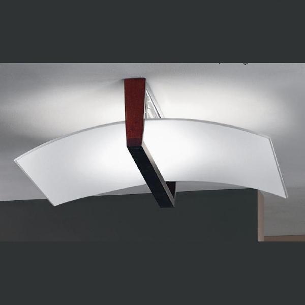 """90115 LineaLight """"Moderncollection"""" светильник потолочный, белое пескостр стекло, 52х4"""