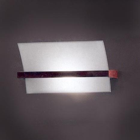 """90116 LineaLight """"Moderncollection"""" светильник настенный, белое пескостр стекло, 45х25"""