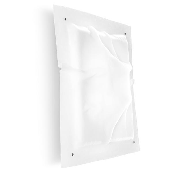90215 Linea Light светильник потолочный Iceberg, стекло белое изогнутое, 58,2*62,5см, 3*50W E27,