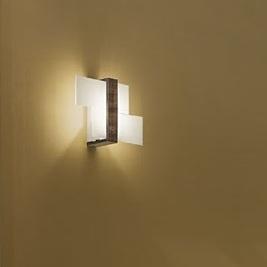 """90228 Linea Light """"Triad"""" светильник настенно-потолочный, белое сериграфированное стек"""