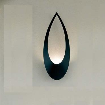 BLU102 Lumen Center Italia бра Blum, 21х11х57см, 1x230W r7s 74,9mm, металл - черный лак