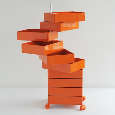 360 container 10 drawers orange (AC270 A)/orange 1658 C