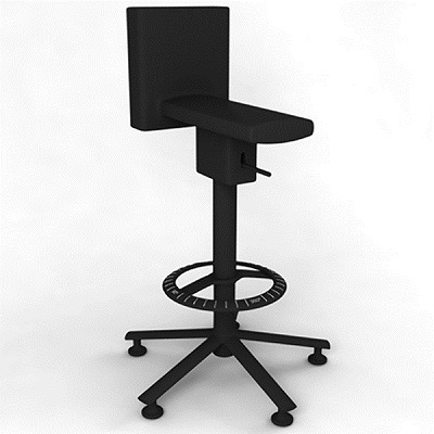 360_stool black/black (SD1544)