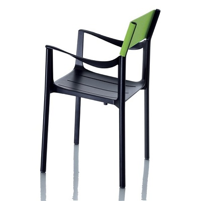 Venice chair black/green (SD 1770 N/VE)