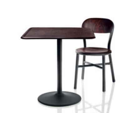 Pipe table black/dark wood (TV 1022 S)