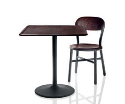 Pipe table black/dark wood (TV 1022 S)