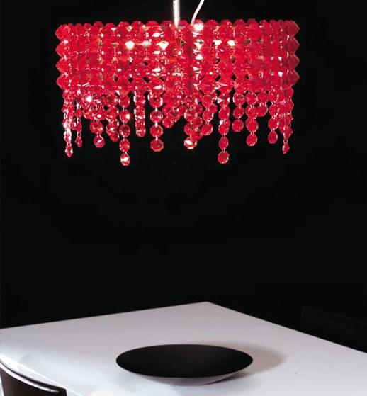 Светильник потолочный Marchetti Preziosa SG CP rosso/nichel lucido