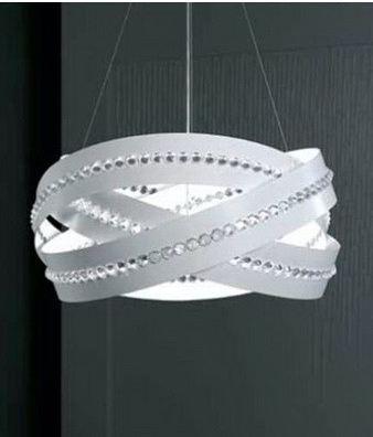 Светильник потолочный Marchetti Essentia S60 bianco/сristallo E27