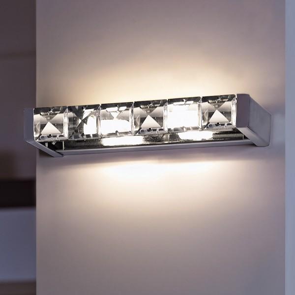 Светильник настенный Marchetti Lyra AP-PL cristallo/ nichel lucido