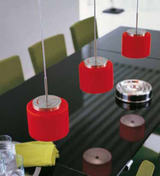 Светильник потолочный MorosiniRound SO 15 rosso