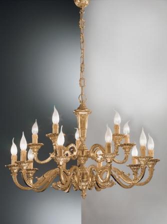 Светильник потолочный Nervilamp 250/10+5 GM french gold
