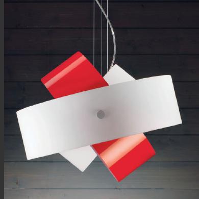 Светильник потолочный Panzeri Tourbillon L9632 white/red