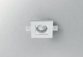 Carlo Panzeri светильник встраиваемый Invisibli, 9,7х9,7х8,5см, 1xGU5,3 50W, гипс