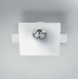 Светильник встраиваемый Panzeri Invisibly, 13х13х5см, 1xGU10 max 50W, гипс XGR1021