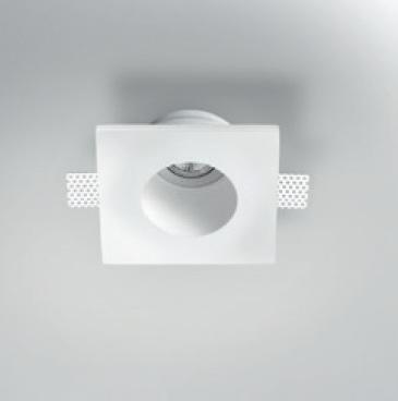 Светильник встраиваемый + поворотный спот из металла PanzeriInvisibly, 18х18х9см, 1xGU5,3 ma