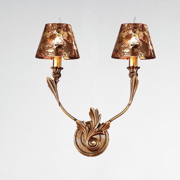 Светильник настенный Possoni 298/A2rust/gold leaf finish (034)
