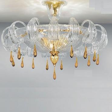 Светильник потолочный Sylcom 1386/78 CR ORO