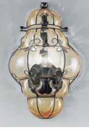 1437 N.O CR Sylcom Бра, стекло-хрусталь, выс 35, 1х100W, E14, черный матовый металл