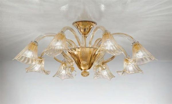 Светильник потолочный Sylcom 1480/8 D CR.ORO