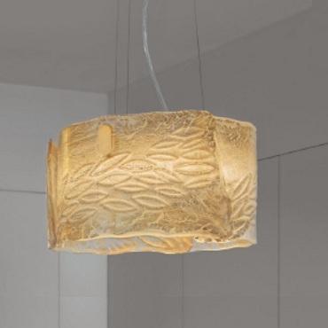 250 FD ORO.SAB Sylcom светильник подвесной, золотое 24К стекло пескоструйной очистки, D 40см, Н