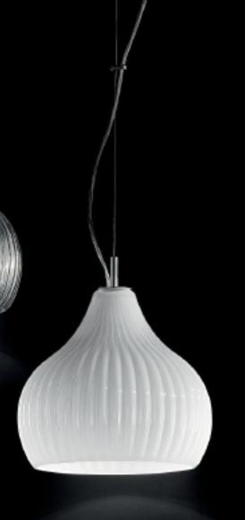 2540 BL Sylcom светильник подвесной, стекло молочно-белое, диам 16см, выс 16см, 1хG9 max 60W, хр