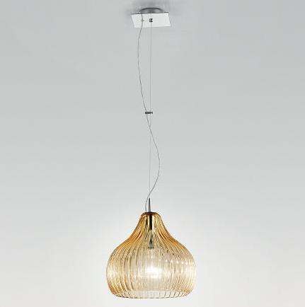 2541/32 AS Sylcom светильник подвесной, стекло янтарь Соммерсо, D 32см, Н 35-110см, 1хE27 60W, х