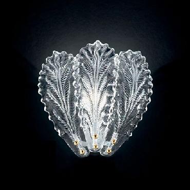 918/A1 B RCR Sylcom Бра одинарное, стекло-хрустальная роса, выс 28, 1х60W, E14, белый
