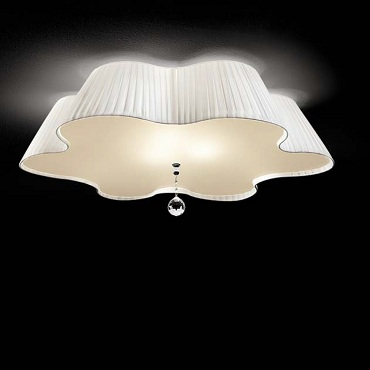 Светильник потолочный Vintage Daisy PL90 cristllo satinato/bianco