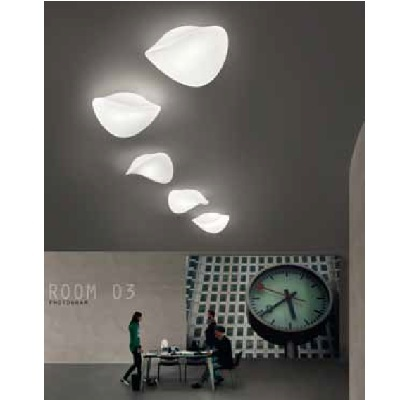 Светильник потолочный Vistosi EXPO. Balance plafo bianco bianco E27