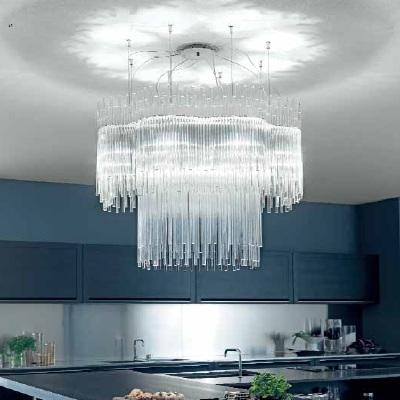 Светильник потолочный VistosiEXPO. Diadema Susp. 60 cristallo / cromo E27