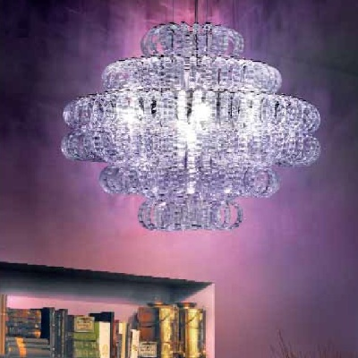 Светильник потолочный VistosiEXPO. Ecos susp 90 cristallo cromo E27