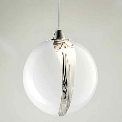 Светильник потолочный VistosiEXPO. Poc susp 16 cristallo bianco nichel G9