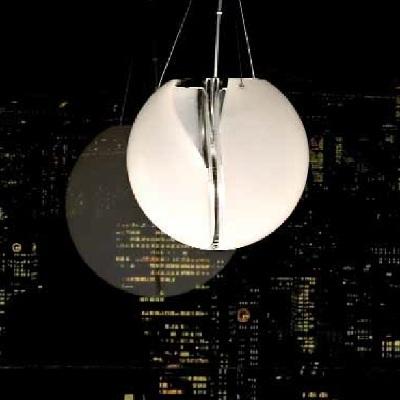 Светильник потолочный VistosiEXPO. Poc susp 25 D1 cristallo bianco nichel G9
