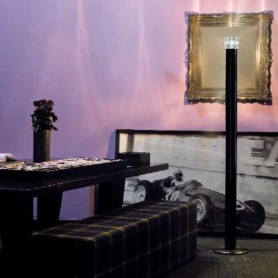 Светильник напольный Vistosi EXPO. Smoking Terra nero cristal nichel E27