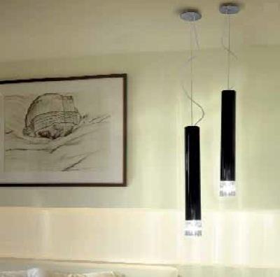 Светильник потолочный VistosiEXPO. Smoking susp. D1 nero cristal nichel E27