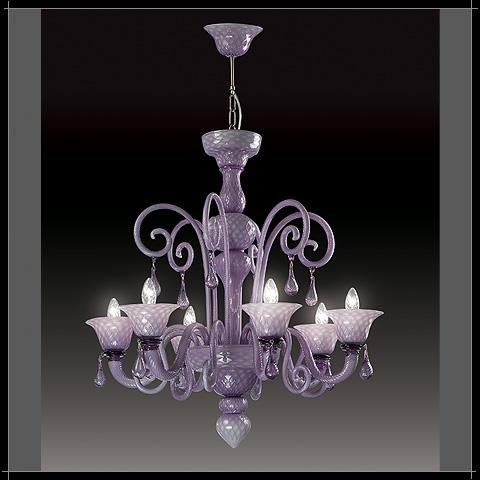 Светильник потолочный Voltolina Nuvola 12L clear Lilac chrome