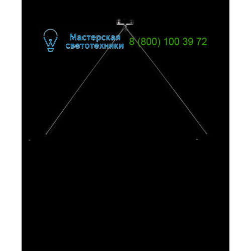 S0CR100LEDR Puntozero Suspension Pendant rigid rod 100cm led 350mA Chrome подвесной светильник