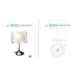 36904/11/LI Lirio Tulmis table lamp Chrome настольная лампа