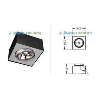57000/30/LI Lirio Bloq 1x50W Black накладной светильник