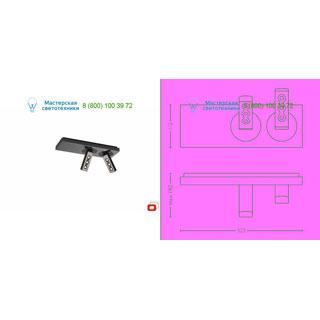 57162/13/LI Lirio Ponato ceiling 2x7.5W Black/chrome прожектор