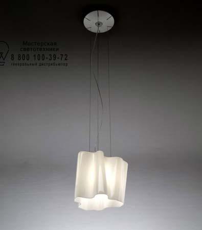 Artemide 0648020A подвесной светильник LOGICO SOSPENSIONE MICRO singola белый глянцевый