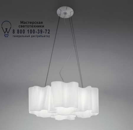 LOGICO SOSPENSIONE MICRO 4x90° белый глянцевый, подвесной светильник Artemide 0651020A