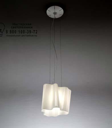 LOGICO SOSPENSIONE MINI singola белый глянцевый, подвесной светильник Artemide 0696020A